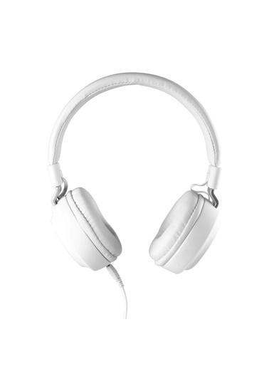 MF Product MF Product Acoustic 0102 Mikrofonlu Kablolu Kulak Üstü Kulaklık Beyaz